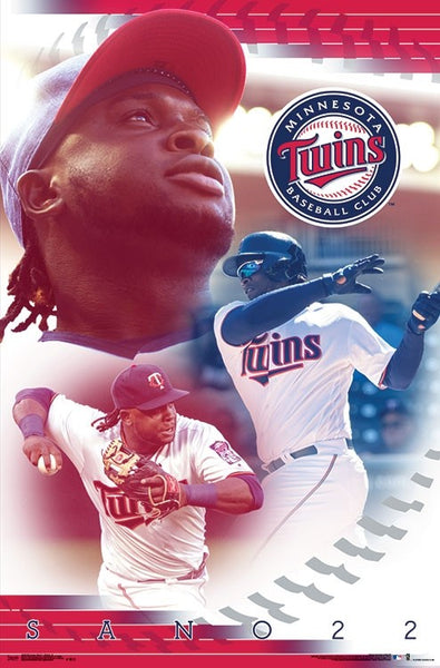 "Miguel Sano ""Superstar"" Minnesota Twins Official MLB Baseball Poster - Trends 2018"