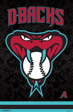 "Arizona Diamondbacks ""Snake Head"" Official MLB Baseball Team Logo Poster - Trends International"