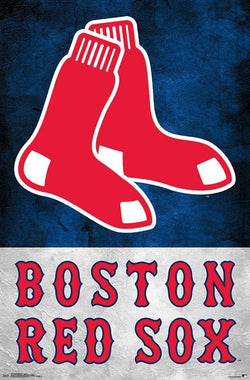 Boston Red Sox Official MLB Baseball Team Logo Poster - Trends International