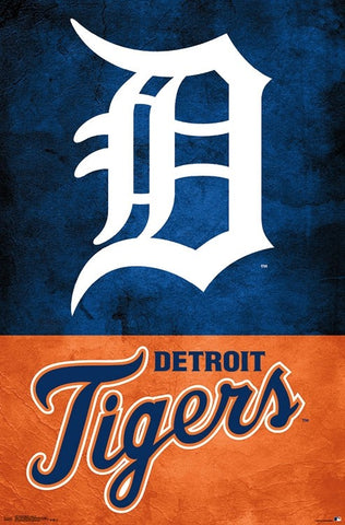 Detroit Tigers Official MLB Baseball Team Logo Poster - Trends International