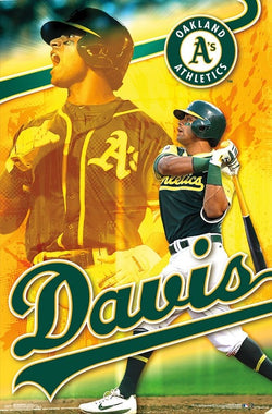 "Khris Davis ""Golden Bomber"" Oakland A's Official MLB Baseball Poster - Trends 2018"
