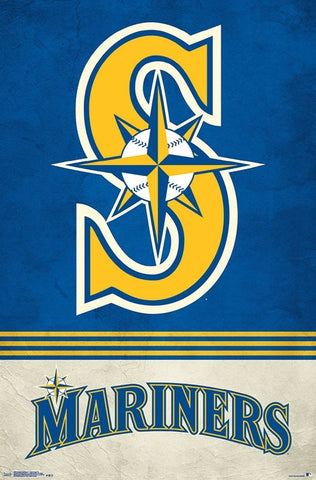 Seattle Mariners Nautical-S Retro-Style Official MLB Baseball Team Logo Poster - Trends International