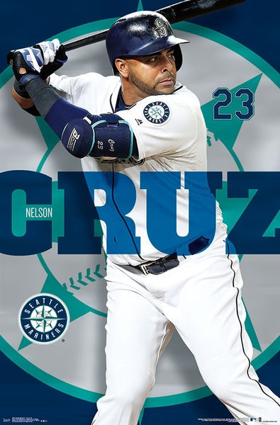 "Nelson Cruz ""Masher"" Seattle Mariners MLB Action Wall Poster - Trends International"