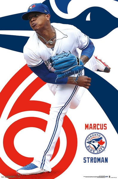 "Marcus Stroman ""Stro Show"" Toronto Blue Jays MLB Baseball Action Poster - Trends 2018"