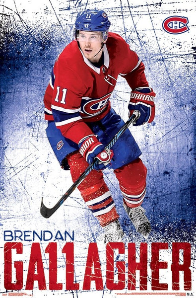 "Brendan Gallagher ""Superstar"" Montreal Canadiens NHL Action Poster - Trends International"