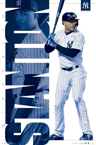 "Giancarlo Stanton ""Bronx Bomber"" New York Yankees MLB Action Poster - Trends 2018"