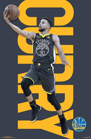 "Stephen Curry ""Drive"" Golden State Warriors NBA Action Poster - Trends Int'l 2018"