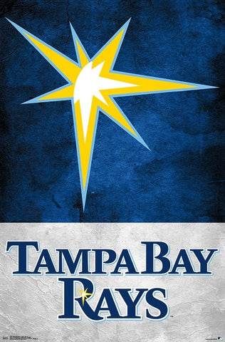 "Tampa Bay Rays ""Sunburst"" Official MLB Baseball Team Logo Poster - Trends International"