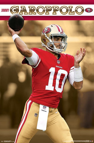 "Jimmy Garoppolo ""Gunslinger"" San Francisco 49ers NFL Football Poster - Trends International"