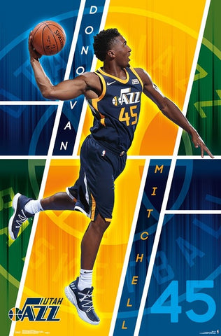 "Donovan Mitchell ""Soaring Spider"" Utah Jazz NBA Basketball Wall Poster - Trends 2018"