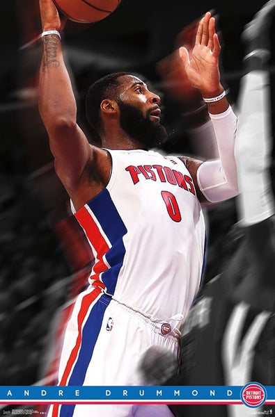 "Andre Drummond ""Superstar"" Detroit Pistons Official NBA Basketball Action Poster - Trends International"