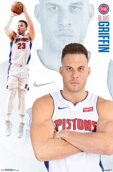 "Blake Griffin ""Motown Monster"" Detroit Pistons Official NBA Basketball Action Poster - Trends International"