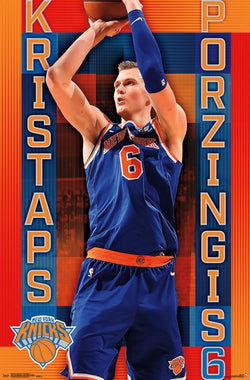 "Kristaps Porzingis ""Broadway Star"" New York Knicks NBA Basketball Poster - Trends 2018"