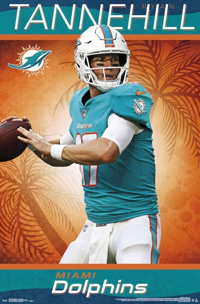 "Ryan Tannehill ""Gunslinger"" Miami Dolphins QB Official NFL Football Wall Poster - Trends International"