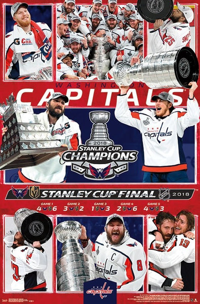 Washington Capitals 2018 Stanley Cup Champions CELEBRATION Commemorative Poster - Trends Int'l.