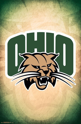 Ohio University Bobcats Official NCAA Team Logo Poster - Trends 2018