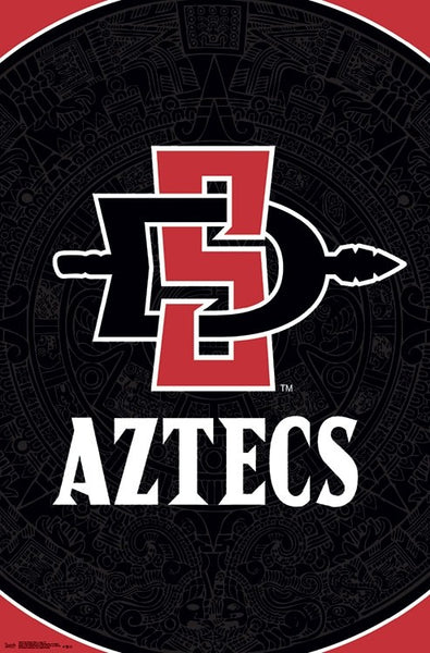 San Diego State University Aztecs Official NCAA Team Logo Poster - Trends International