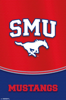 Southern Methodist University SMU Mustangs Official NCAA Team Logo Poster - Trends 2018