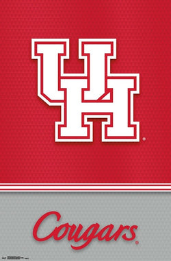 University of Houston Cougars Official NCAA Team Logo Poster - Trends 2018