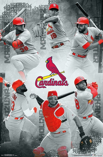 "St. Louis Cardinals ""Six Stars"" (2018) POSTER (Carpenter, Molina, Martinez, Ozuna, Martinez, Pham)"
