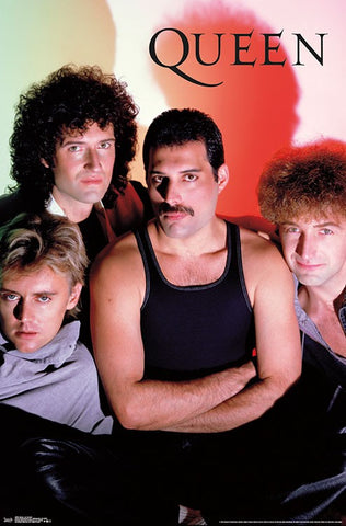 "Queen (Freddie Mercury, Brian May, John Deacon, Robert Taylor) ""Classic 1984"" Rock Band Group Poster - Trends International"