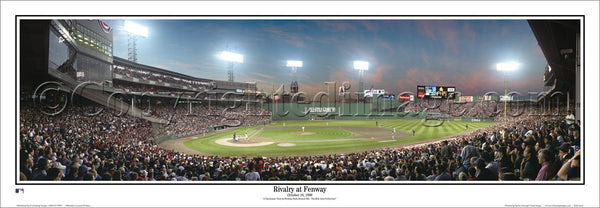 "Fenway Park ""Rivalry at Fenway"" (Boston Red Sox vs. Yankees 1999) Panoramic Poster Print - Everlasting Images"