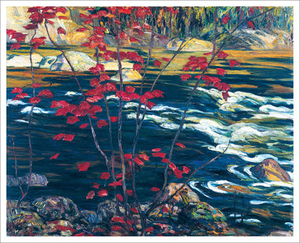 The Red Maple Canadian Wilderness Art (1914) by A.Y. Jackson Group of Seven Poster Print - Eurographics Inc.