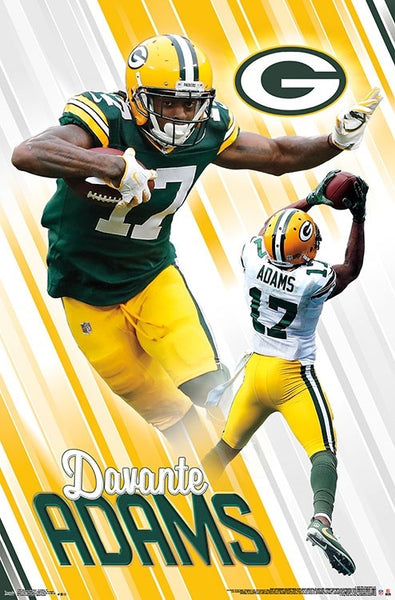 "Davante Adams ""Dynamo"" Green Bay Packers NFL Action Poster - Trends International"