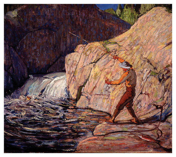 The Fisherman Canadian Wilderness Art (1917) by Tom Thomson Group of Seven Poster Print - Eurographics Inc.