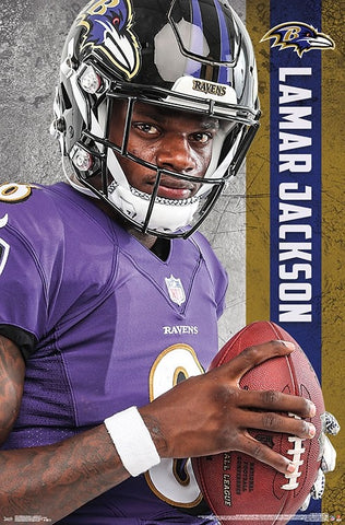 "Lamar Jackson ""Superstar"" Baltimore Ravens NFL Football Poster - Trends International"