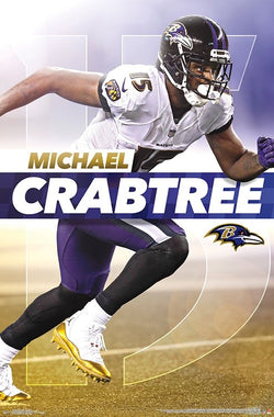 "Michael Crabtree ""Intensity"" Baltimore Ravens NFL Football Superstar Action Poster - Trends International"