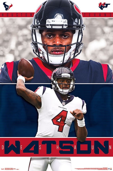 Deshaun Watson QB Superstar Houston Texans NFL Football Poster - Trends International