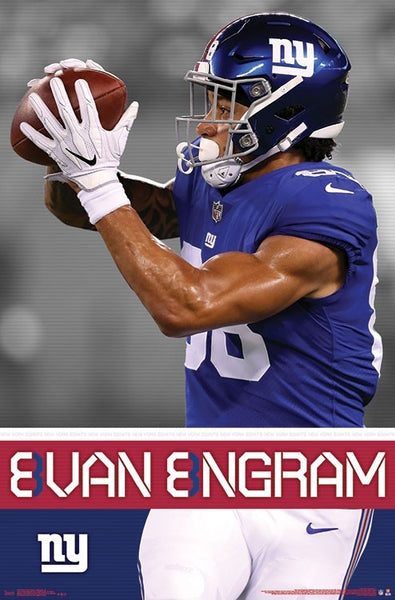 "Evan Engram ""Action Star"" New York Giants Official NFL Football Poster - Trends International"