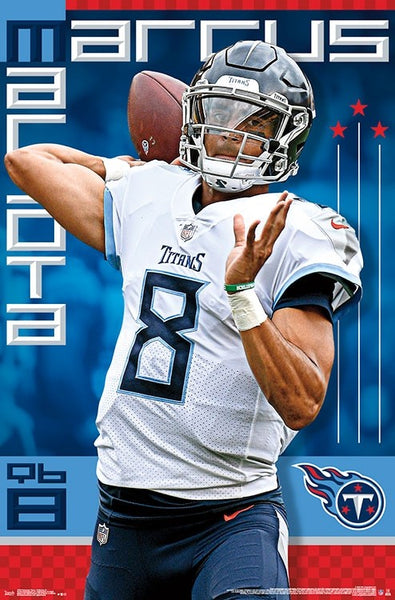 "Marcus Mariota ""Gunslinger"" Tennessee Titans QB Action NFL Football POSTER - Trends International"
