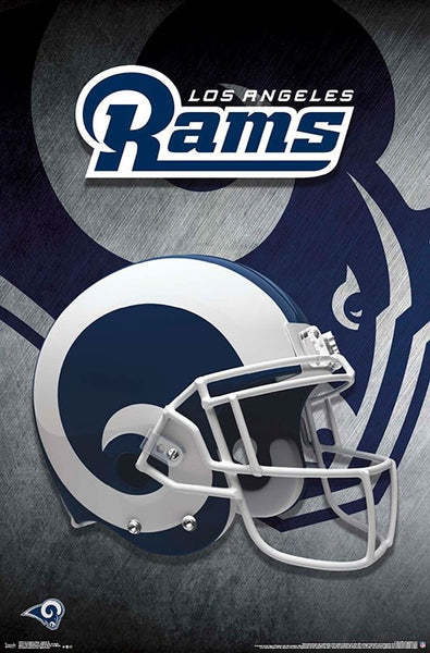 Los Angeles Rams NFL Football Official Team Helmet Logo Poster - Trends 2018