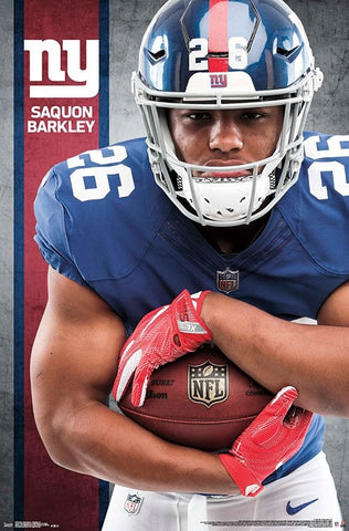 "Saquon Barkley ""Breakout"" New York Giants Official NFL Football Poster - Trends International"
