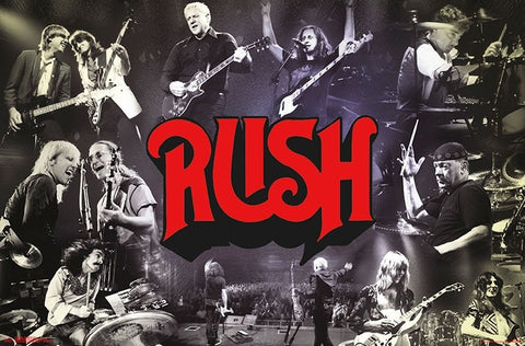 "Rush ""Through the Years"" Classic Rock Music Collage Poster - Trends International Inc."