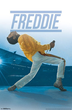 "Freddie Mercury ""Live at Wembley"" (1986) Queen Rock Music Poster - Trends International"