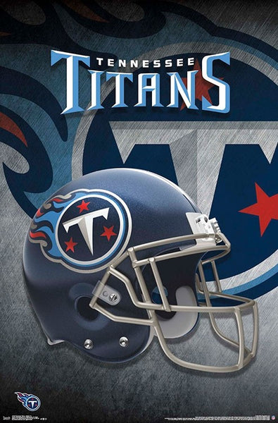 Tennessee Titans Official NFL Football Team Helmet Logo Wall Poster - Trends International