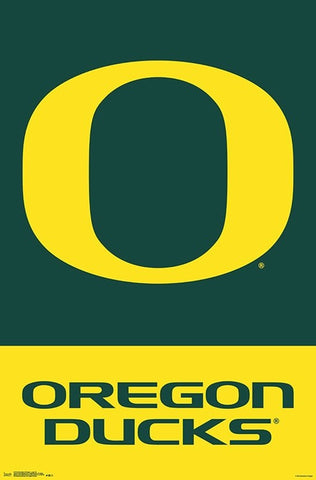 University of Oregon Ducks Official NCAA Team Logo Poster - Trends International