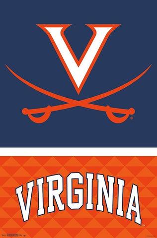University of Virginia Cavaliers Official NCAA Team Logo Poster - Trends International