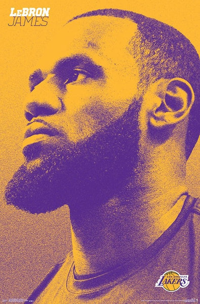 "LeBron James ""L.A. Icon"" Los Angeles Lakers Official NBA Poster - Trends 2018"