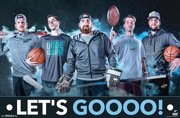 "Dude Perfect ""LET'S GOOOO!"" Multi-Sport YouTube Legends Wall Poster - Trends International"