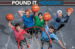 "Dude Perfect ""Pound It Noggin"" (Basketball) YouTube Legends Wall Poster - Trends International"