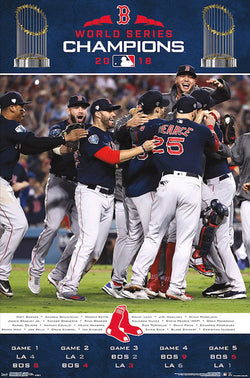 Boston Red Sox 2018 World Series CELEBRATION Commemorative Poster - Trends International
