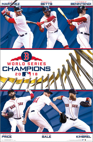 Boston Red Sox 2018 World Series CHAMPIONS 6-Player Commemorative Poster - Trends International
