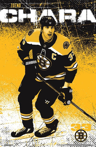 "Zdeno Chara ""Legend"" Boston Bruins Official NHL Hockey Poster - Trends International 2018"