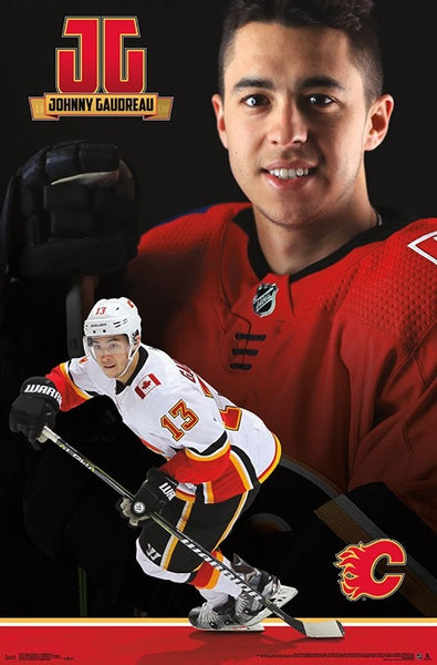 "Johnny Gaudreau ""JG Superstar"" Calgary Flames NHL Action Wall Poster - Trends International 2018"