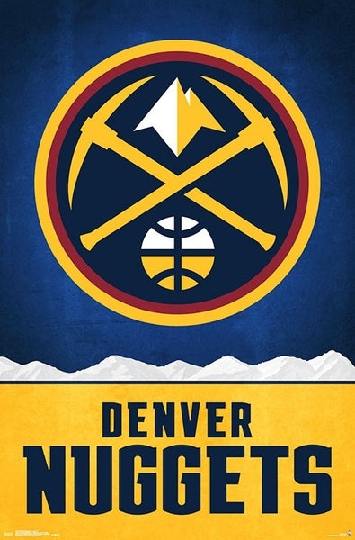 Denver Nuggets Official NBA Basketball Team Logo Poster - Trends International 2018