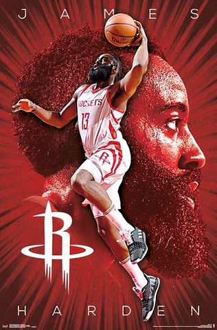 "James Harden ""Fearsome"" Houston Rockets NBA Basketball Poster - Trends International"